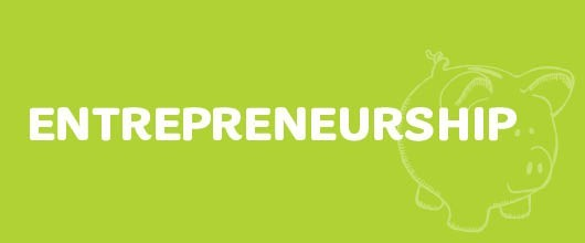 Entrepreneurship Events are Signified by the Lime Green Color