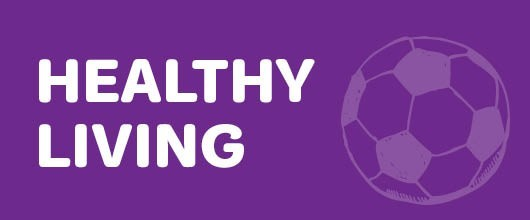 Healthy Living Events are Signified by the Purple Color