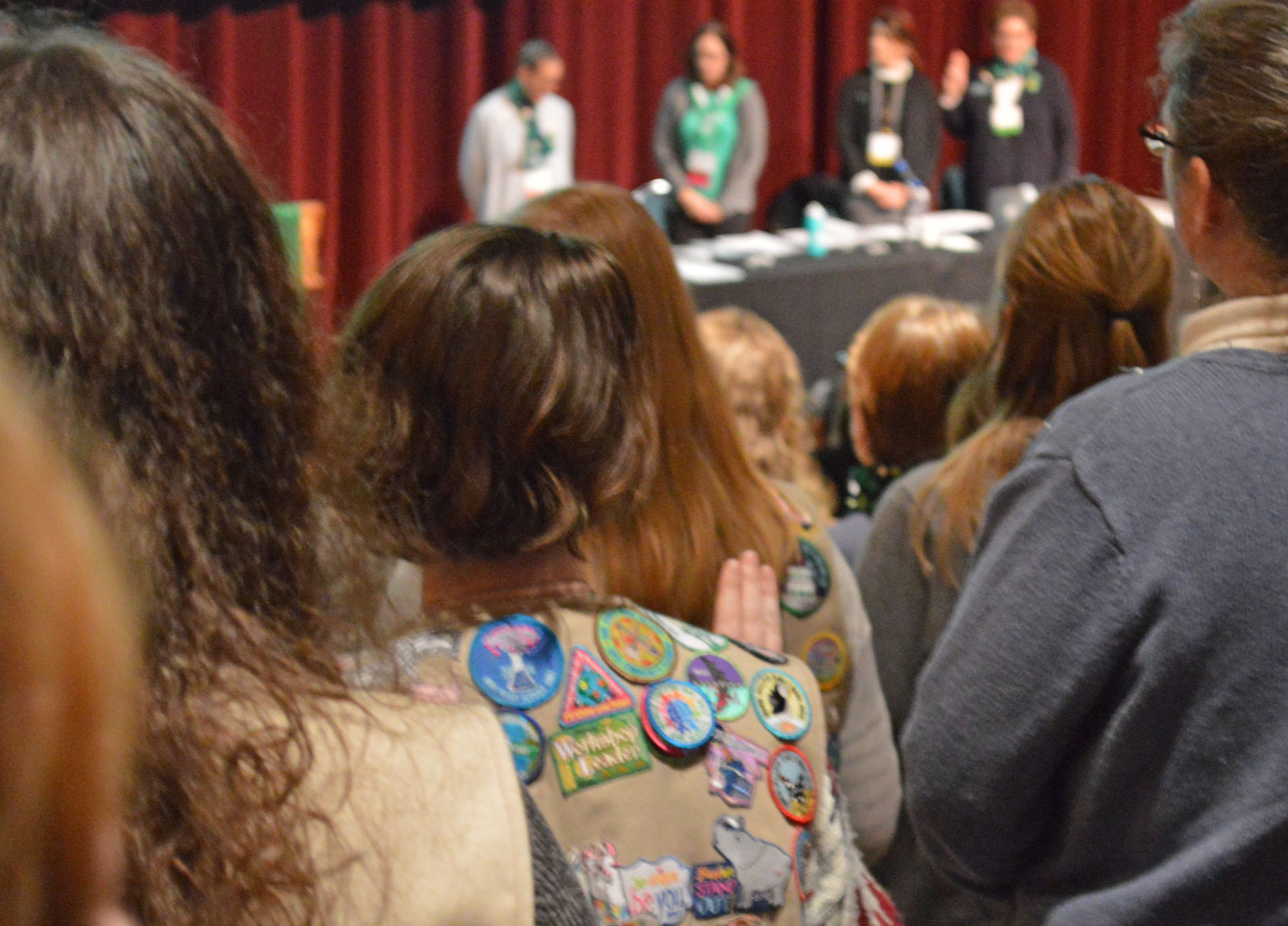 All Girl Scouts, regardless of age, recite the Girl Scout Promise and the Girl Scout Law.