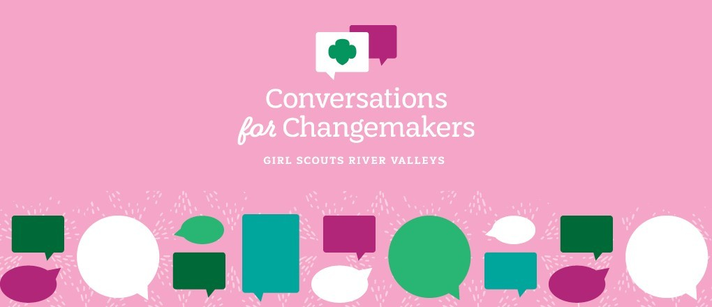 Conversations for Changemakers  text on green background