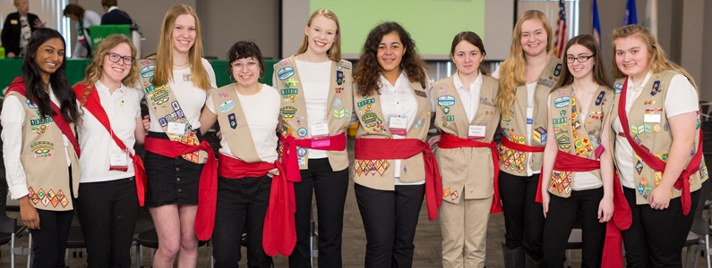 The Girl Leadership Board at the 2018 Annual Meeting