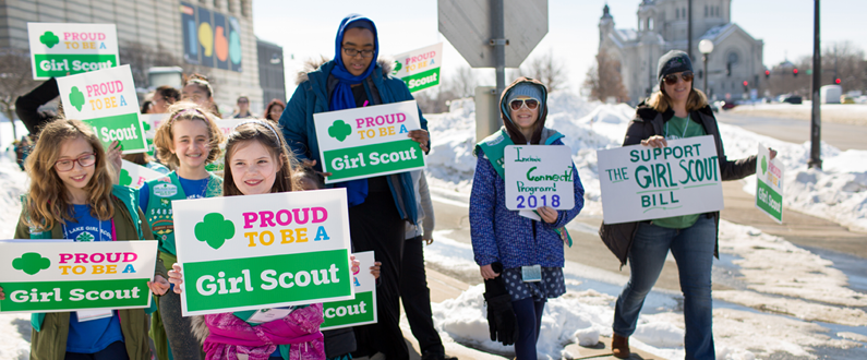 Girl Scouts Advocating for Issues They Care About
