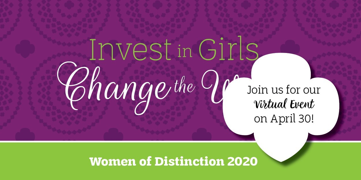 Invest in Girls, Change the World. Join us for our virtual event on April 30.